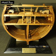 Wooden Ship Models Kits Educational Toy Model-Ship-Assembly DIY Model Wooden 3d Laser Cut Scale 1/48 Full-sectional rib kit(China)