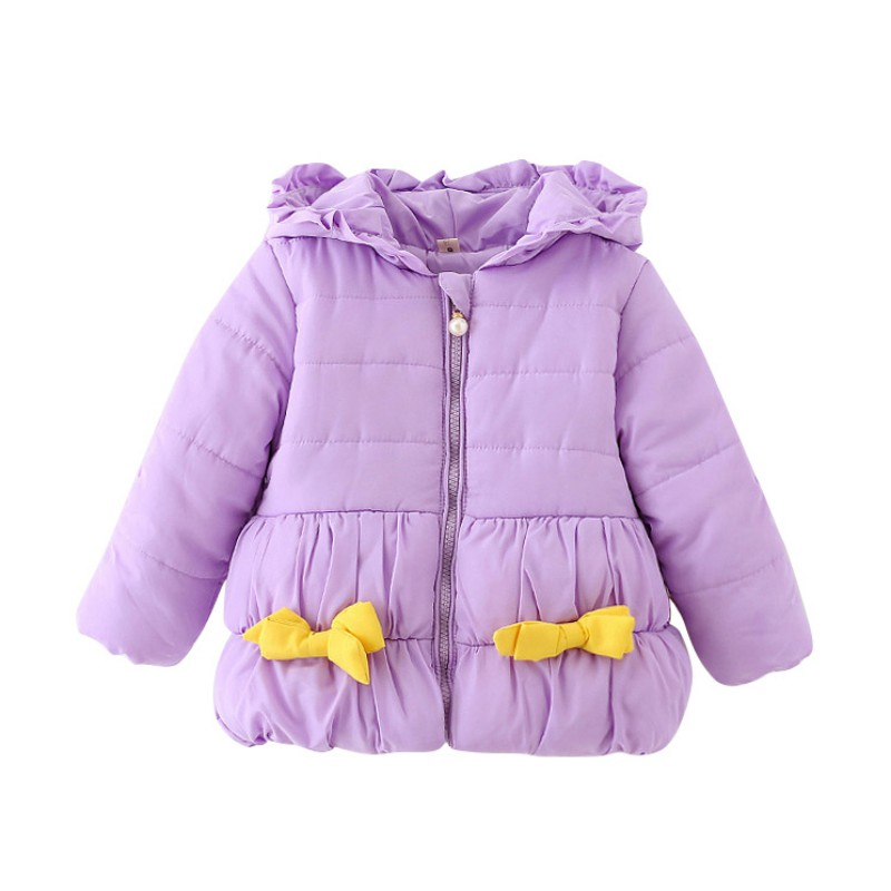 Sweet Baby Winter Coats Long Sleeve Baby Girl  Coat Infant Kid Jacket Outwear Warm Sweet Knot Bow Hooded 0-36MОдежда и ак�е��уары<br><br><br>Aliexpress