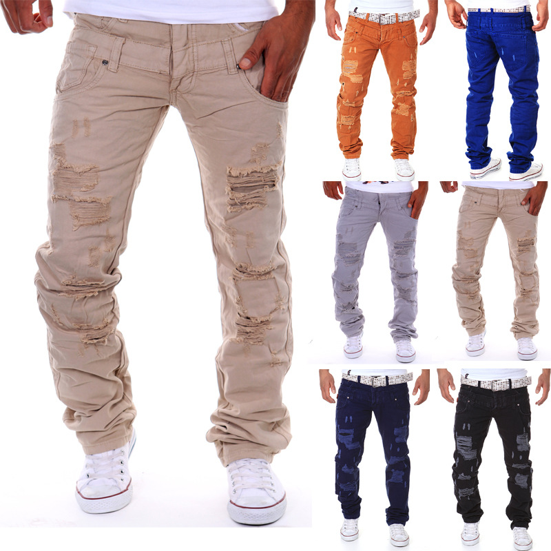 real stuff italy hip hop brand ripped jeans denim Men Jeans,male famous brand mens jeans straight trousersОдежда и ак�е��уары<br><br><br>Aliexpress