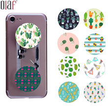Lovely Cactus Desert Flower pattern pop stand grip holder for iphone 7 6 6s 5 4s LG cartoon Pineapple tablet finger ring holder