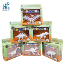 BEIERYOU 6 Style DIY Graffiti Dinosaur Stegosaurus Triceratops Model Coloring Painting Animal Children Learning Toys -48(China)