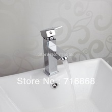 8348 Faucet Deck Mounted Single Handle Chrome Bathroom Basin Sink Mixer Tap New Brand