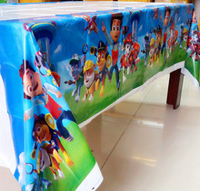 108cm*180cm Dog Puppy Patrol Party Table Cloth Birthday Party Decoration Disposal  Kids Boys Event Party Supplies Table Cloth 1