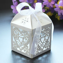 Wholesale 200pcs/lot Laser Cut Floral Love Hearts Wedding Candy Favor Boxes Gift Holders Wedding Birthday Party Holiday Supplies