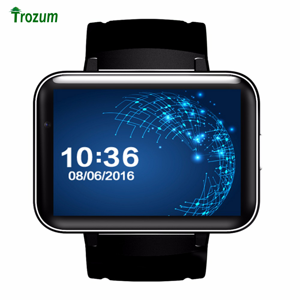 Bluetooth Smart Watch DM98 MTK6572 2G/3G SIM Card Camera 2.2' Android 5.1 OS Clock Smartwatch Wristwatch 900mah GPS Wifi lem4(China)