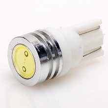 Auto LED High power T10 0.5W 1 SMD Cold white/Blue/Red/Yellow/Green/Pink W5W 12V 192 168 Car side wedge/tail/Outline lamp bulb.