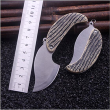 Stainless Steel Mini Knife Outdoor Camping Folding Knives Tactical Survival Multi Tools Keychain Micro Pocket Knife Faca(China)