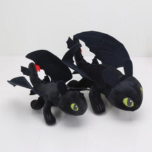 23cm/33cm Night Fury Plush Toy How to Train Your Dragon Toothless Toys Plush dragon Dolls for boys girls kids children gift