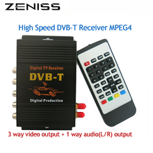 Car DVB-T tv receiver dual tuner for car dvd high speed mpeg4 Car digital DVBT Tuner Auto Mobile DVB-T Receiver
