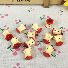 10Pieces Resin Artificial Fake Miniature Food Red Apple Core Kawaii DIY Embellishment Accessories Scrapbooking Craft:12*16mm(China)