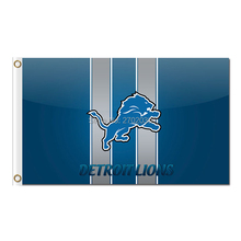 Lions Design Blue Detroit Lions Flag Team Sport Super Bowl Champions Banners Lion Flag Flying 3ft X 5ft Banner Printed Polyester(China)