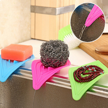 1pcs Anti-slip kitchen organizer drain sink cleaning sponge soap box rack shelf storage rangement cuisine prateleira drainer
