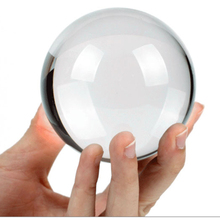 8cm Crystal Ball Feng Shui Ball Home Decoration Glass Ball Rare Good Luck Wedding Gift Fashion Exercise Transparent(HD-160097)(China)