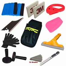 Standard Car Wrap Vinyl Tools Kit Squeegee Bag Razor Cutter Wrapping Magnet(China)