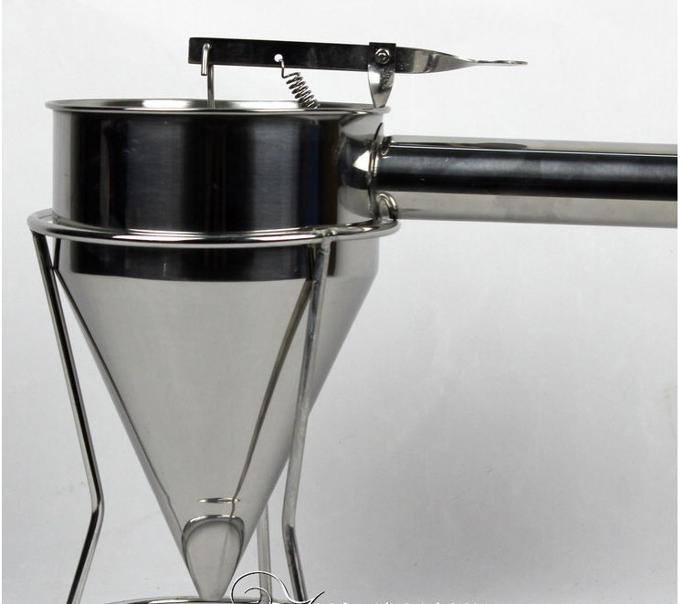 Stainless Steel Batter Dispenser Takoyaki Tool Hopper for Mix Food and Waffle Making<br>