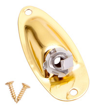 Boat Input Output Jack Plate Socket for Fender Strat Guitar Replacement Parts(China)