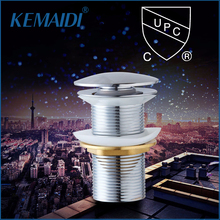 KEMAIDI CUPC Polish Chrome  Bathroom Sink Drain Pop Up Waste Vanity Without Overflow Bathroom/Kitchen Sink Faucet Accessories