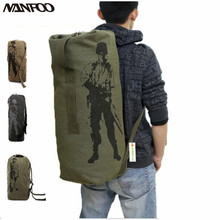 New 3Size Outdoor Canvas Sports Shoulders Bag Unisex Army Military Backpack Hiking Camping Back Pack Travel Portable Luggage Bag
