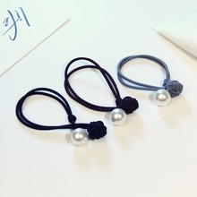 3Pcs High Quality Plastic Elastic Hair Bands Ring Shaped With Beads Ponytail Holders Hair Accessories For Kids Women