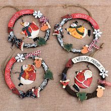 Christmas Decorations Shop Wall Decor Rattan Hanging Soft Ceramic Christmas Flowers Ring Kerst Tree Decor Natal Pendant Decor(China)