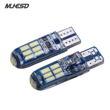 4x T10 Strobe Flashing 194 W5W 15 Led 4014 SMD T10 Led Lasting Shine+Auto Strobe Flash Two modes of Operation Car light bulbs