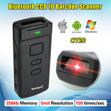 CT20 Pocket HID SPP Bluetooth Wireless CCD 1D Scan Barcode Scanner Decoder Reader Supermarket Bank For Android IOS Windows