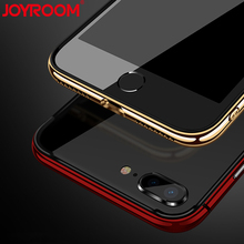 JOYROOM Luxury Plating Hybrid Bumper Case for iphone 7 8 Plus X Protective Protector Shell Back Cover for iphone 8 7(China)