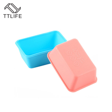 TTLIFE 7CM Rectangular Baking Tools Kitchen Food Utensils Silicone Products Polygonal Cake Cups DIY Molds Random Color(China)