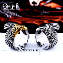 Beier new store 316L Stainless Steel high quality Flying birds men ring Fashion Jewelry LLBR8-299R(China)