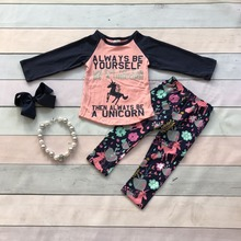 FALL OUTFITS persnickety girls boutique clothingbaby girls always be yourself outfits children unicorn outfits with accessories