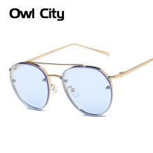 Newest Rimless Sunglasses Women Brand Designer Retro Sunglass Classic Female Gradient Sun glass Men Vintage Points Sun Glasses