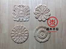 Do not forget to log Dongyang woodcarving flower round European background wall decoration flower round central fireplace Decal(China)