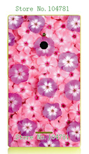 2016 Newest hybrid Fashion pink flower Printing phone Cases white hard cases for Nokia XL cover free shipping