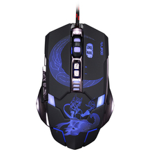 Malloom 2017 Adjustable 3500DPI 7D Optical Custom Macros USB Wired Gaming Game Mouse Pro Gamer Computer Mice For PC Laptop
