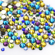 500pcs/pack Mixed Colors SS3-SS16 Mix Size Nail Art Rhinestones Glass Diamond Nail Crystal DIY Flatback Decor Tools TR400