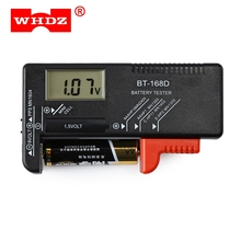 LCD Display Battery Measuring Tools WHDZ BT - 168D Universal Battery Tester Volt Checker for 9V 1.5V and AA AAA Cell Batteries