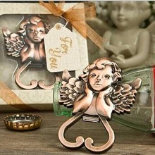 FREE SHIPPING 200pcs/sets Baby Shower Favors Antique Copper Angel Wine Bottle Opener Wedding&Bridal Shower Favors(China)