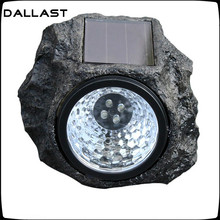 LED Solar Light Lamp Garden Lampada Solar Light Lampe solaire Lamparas Solares exterior Outdoor Resin Imitation Stone DALLAST