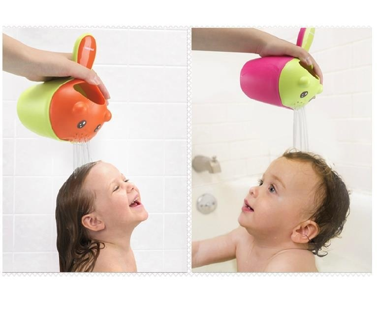Baby Shampoo Rinse Cup Cartoon Bath Shower Water Pourer Ladle Color Random