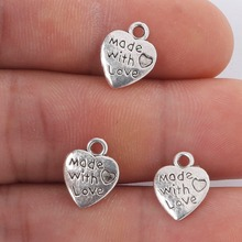 Vintage Heart Charms 10X12MM 10PCS Alloy Metal Antique Silver Pendant Jewelry Findings for DIY Charms Choker Necklace Bracelet