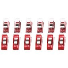 Boutique 50pcs Red Wonder Clips for Fabric Quilting Craft Sewing Knitting Crochet Office