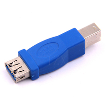 High Quality 10pcs Hot Sale USB 3.0 Type A Female to Type B Male Plug Connector Adapter USB 3.0 Converter Adaptor AF to BM(China)