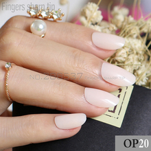 24pcs new product sales long small round Baby pink Nude color oval head fake nail fit comfortable DIY nail candy color R26 P20