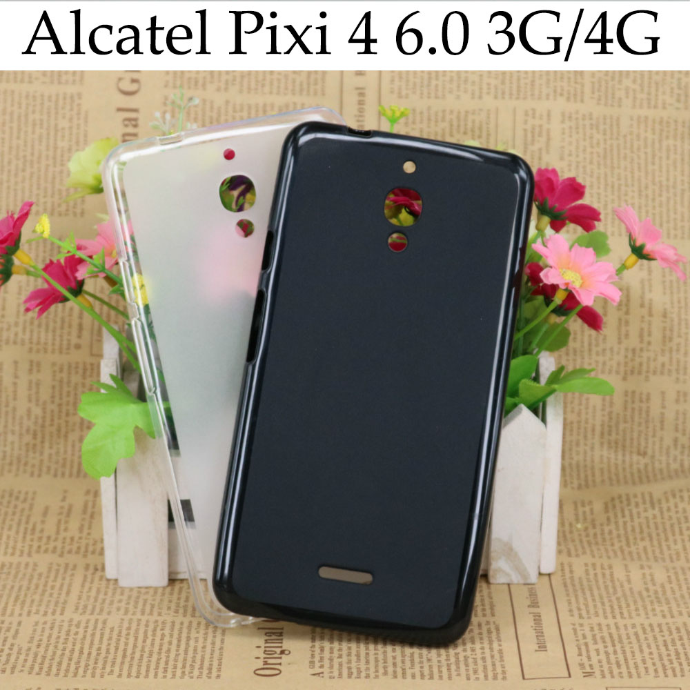 Soft Protector Case For Alcatel One Touch Pixi 4 6.0 Case 3G 4G Android Silicone Back Cover For Fundas Alcatel Pixi 4 6.0 Case(China (Mainland))