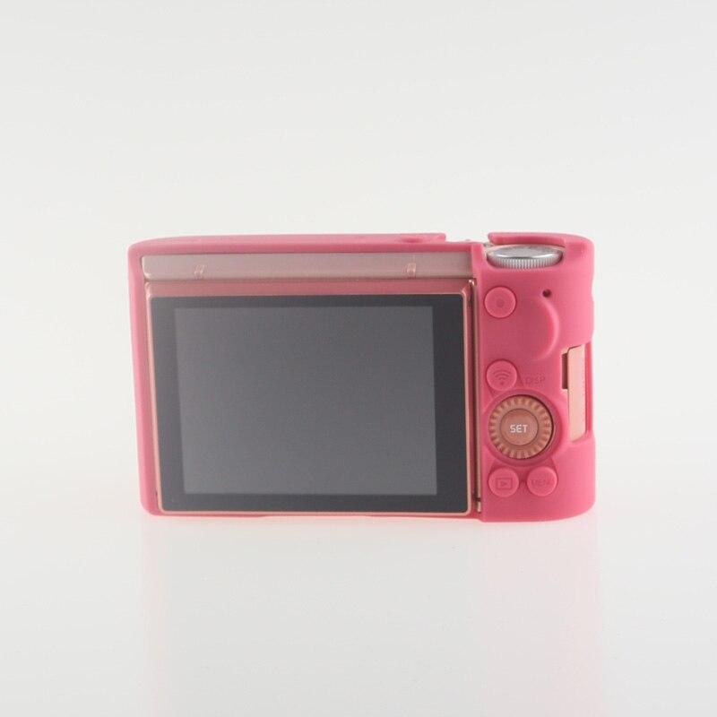 Soft Silicone Rubber Camera Bag Protective Body Case for Casio ZR5000 5500 5300-12