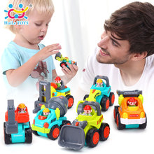 HUILE TOYS 3116B 12Pcs/Set Mini Engineering Car Tractor Toy Dump Truck Model Classic Toys for Children Xmas Gift for Boys(China)