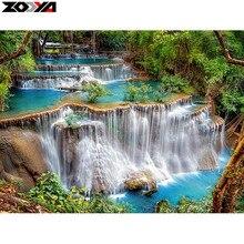Zooya 5D DIY Алмаз вышивка пейзаж водопад алмазов картина вышивки крестом полный квадрат горный хрусталь мозаичные украшения дома(China)