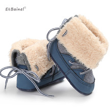 Fleece Warm Winter Baby Boys Snow Boots Infant Shoes Antiskid Baby Shoes Girls First Walkers Baby Boots Fur