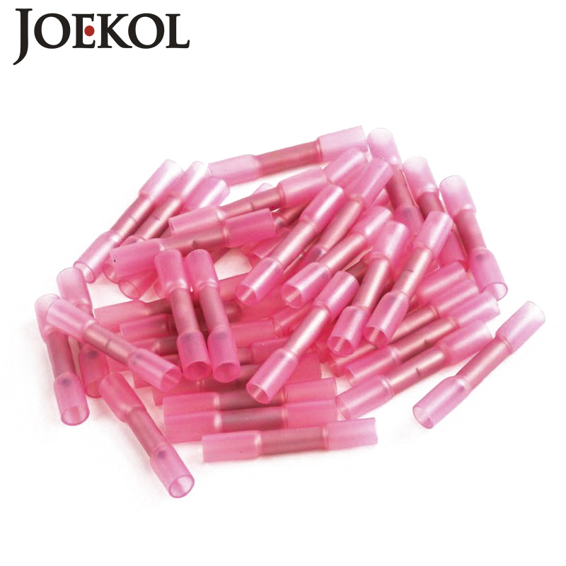 500pcs Insulated Heat Shrink Butt Connectors Wire Electrical Crimp Terminals 22-18AWG Kit<br>
