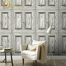 Waterproof PVC Vintage Wood Door 3D Wallpaper Living room Study room Home Decor Wood Textured Vinyl Wall paper Rolls R473(China)